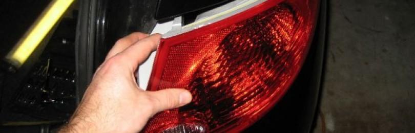 Замена ламп заднего фонаря Chevrolet Cobalt