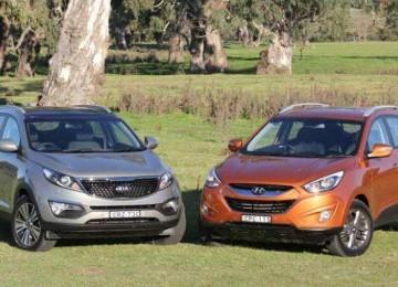 Hyundai ix35 против Kia Sportage
