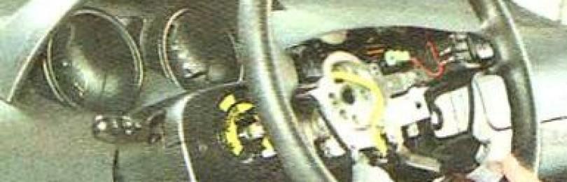 Как снять рулевое колесо на Chevrolet Aveo