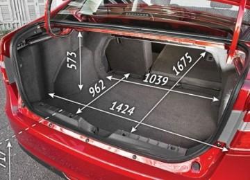 Объём багажника Киа Спектра