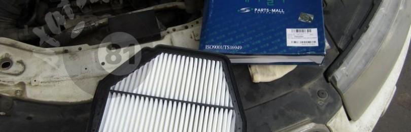 Замена воздушного фильтра Шевроле Каптива (дизель)