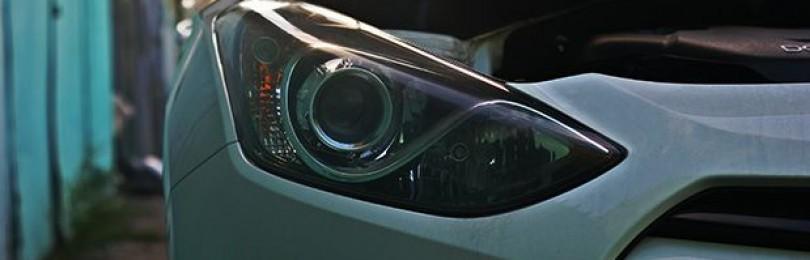 Замена ламп ближнего и дальнего света Хендай I30