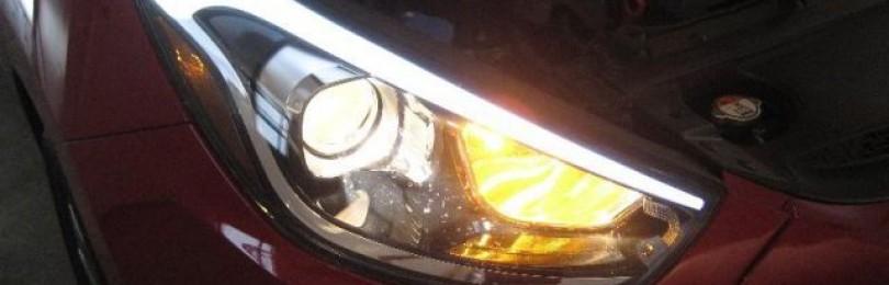 Замена ламп Хендай ix35: фото и видео