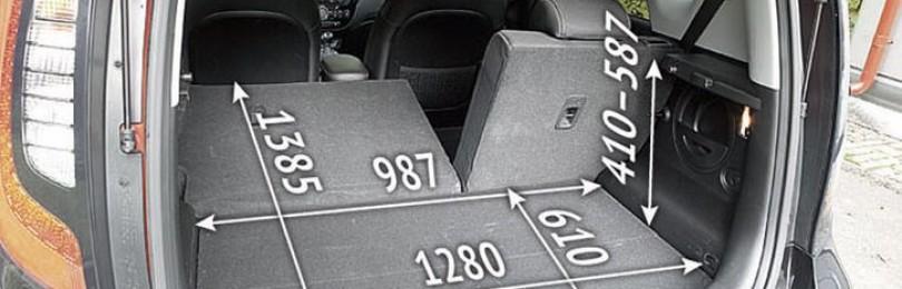 Объём багажника Киа Соул