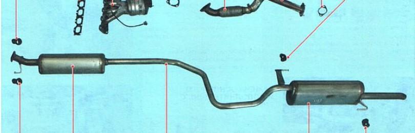 Замена подушки выхлопной системы Chevrolet Авео T300