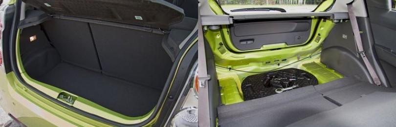 Объём багажника Шевроле Спарк