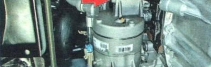 Снятие компрессора кондиционера Chevrolet Aveo