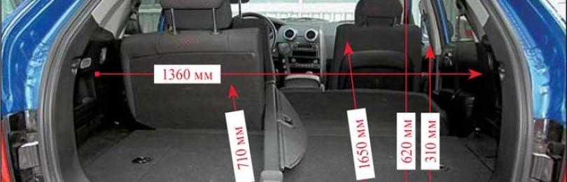 Объём багажника СсангЙонг Актион