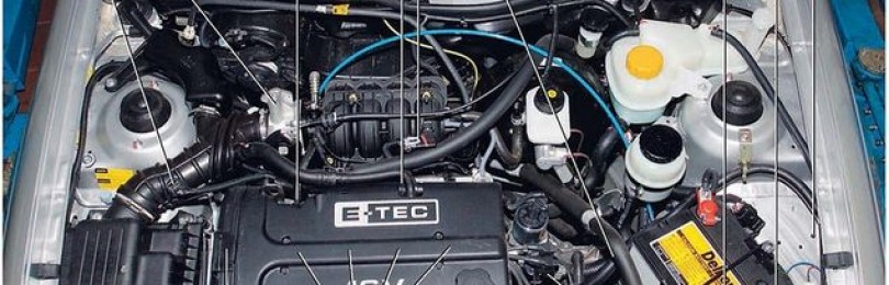 Устройство двигателя Дэу Нексия: схема