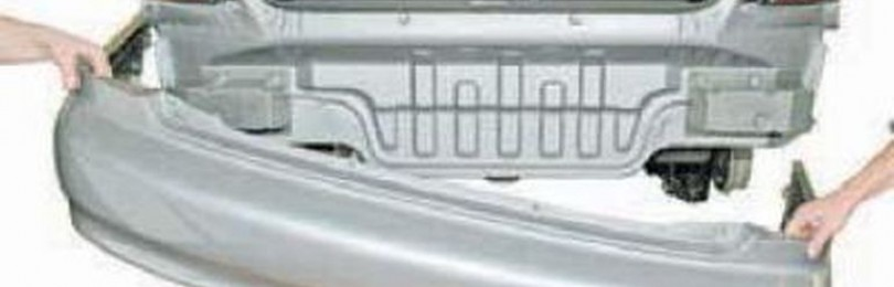 Снятие заднего бампера Дэу/Шевроле Ланос: видео