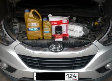 Какое масло заливать в двигатель Хендай Ix35