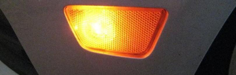 Замена лампы бокового габарита Шевроле Круз