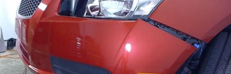 Замена переднего бампера Шевроле Круз