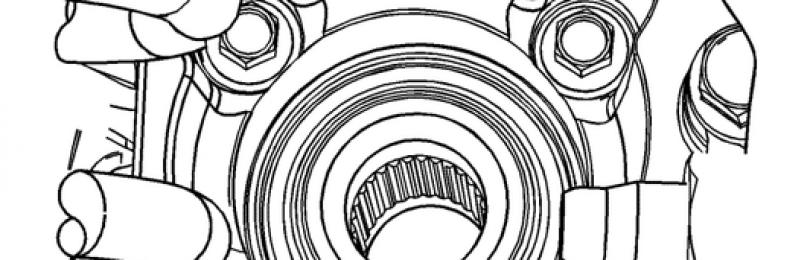 Замена подшипника ступицы Chevrolet Captiva