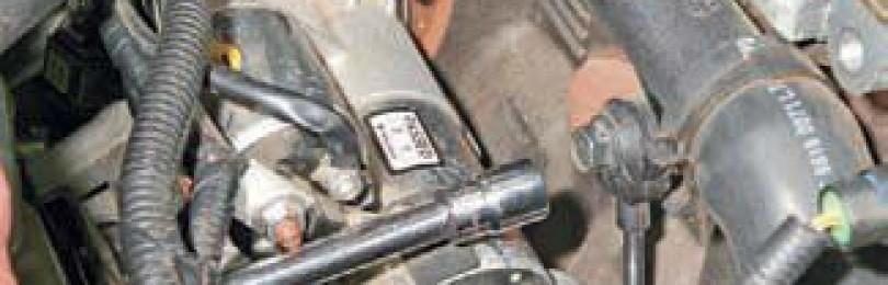 Замена датчика детонации Chevrolet Lacetti
