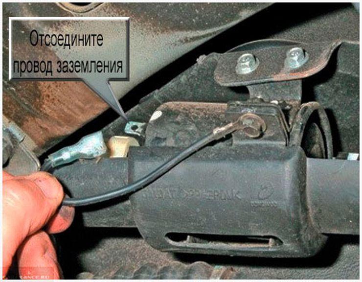 Выключаем заземление топливного фильтра Авео