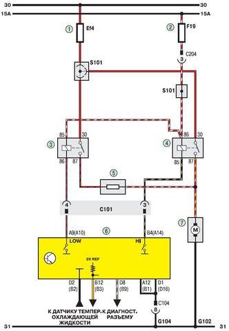 Схема электрооборудования Дэу Ланос