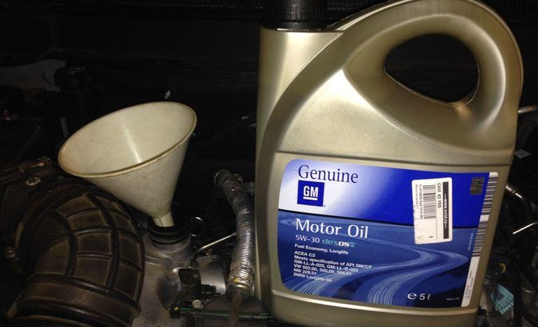Моторное масло для обслуживания Шевроле Каптива