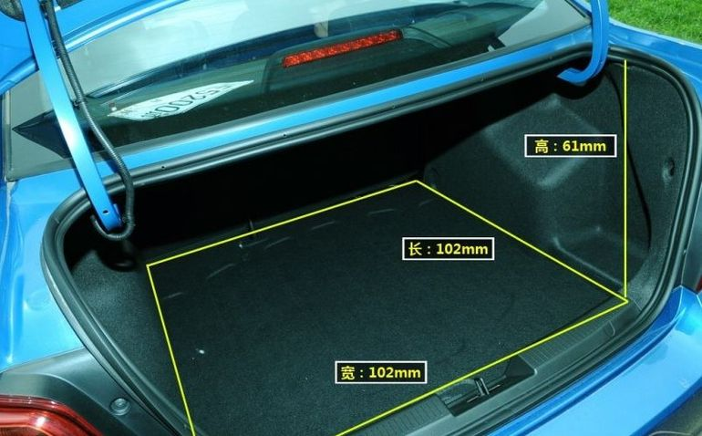 Размер багажника Шевроле Авео