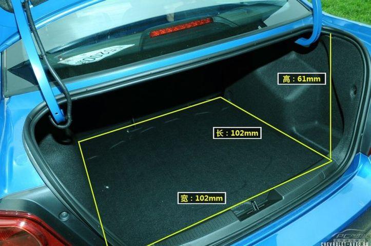 Размеры багажника Шевроле Круз
