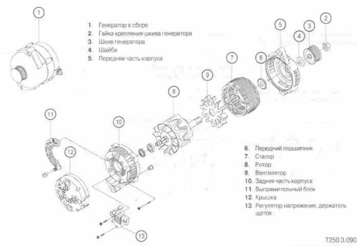 Схема генератора Шевроле Авео