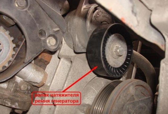 Демонтаж ремня генератора Шевроле Авео