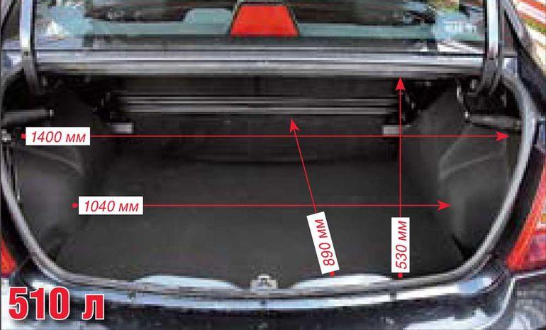 Объём багажника Хендай Акцент