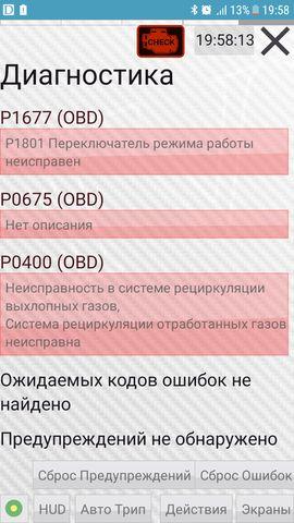 Коды ошибок СсангЙонг Корандо