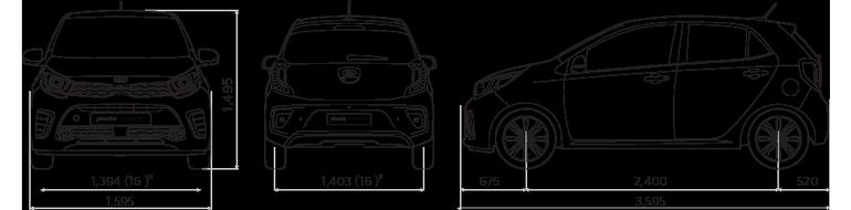 Объём багажника Киа Пиканто