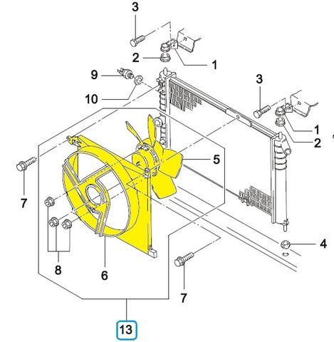 Схема охлаждения Дэу Нексия