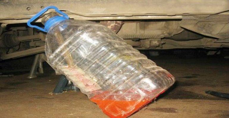 Охлаждающая жидкость в бутылке слитая с Шевроле Лачетти