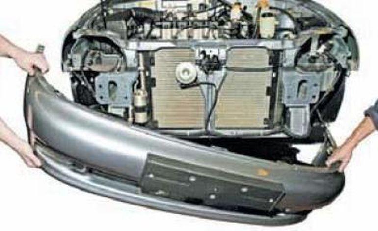 Замена переднего бампера Шевроле Ланос
