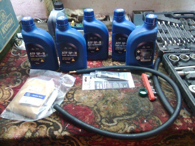 Замена масла в АКПП Хендай Крета
