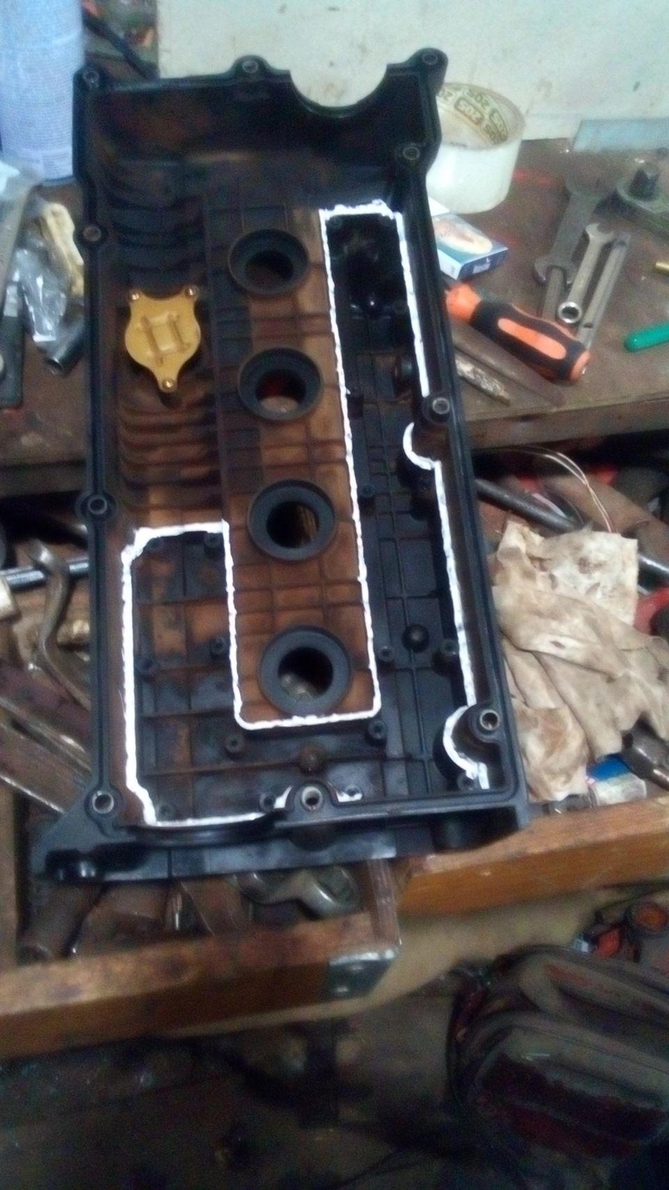 Замена прокладки клапанной крышки двигателя Гетц