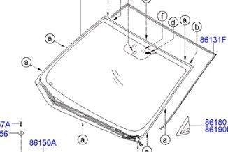 Замена лобового стекла Хендай I30