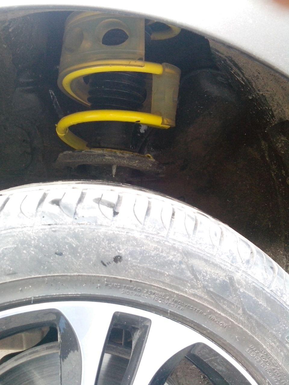 Замена передних пружин подвески Киа Сид