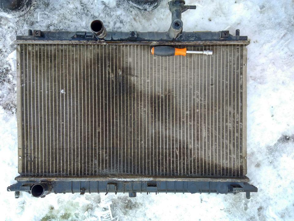 Замена радиатора системы охлаждения КИА Соул