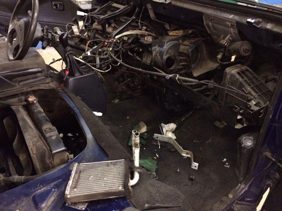 Демонтированный радиатор печки с автомобиля Хендай Портер