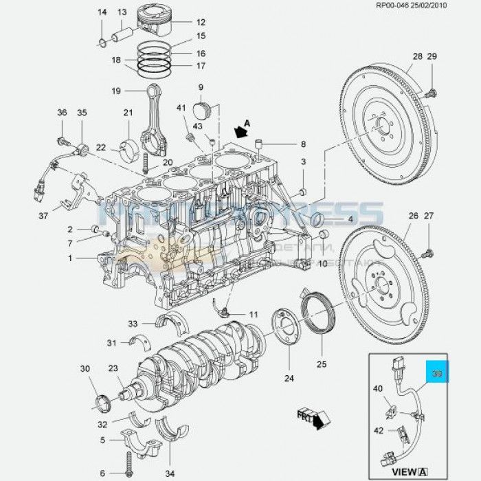 Схема двигателя Chevrolet Aveo