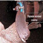 Вынимаем тормозную колодку Шевроле Авео