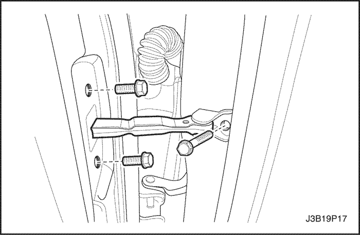 Снимаем ограничитель двери Шевроле Лачетти