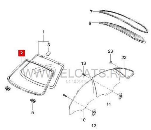 Схема лобового стекла Шевроле Лачетти