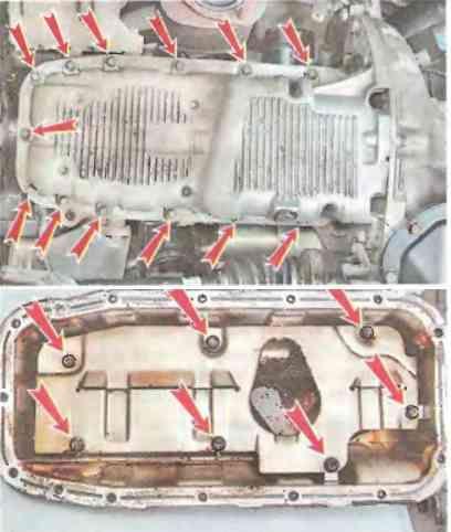 Процесс замены поддона двигателя Шевроле Лачетти