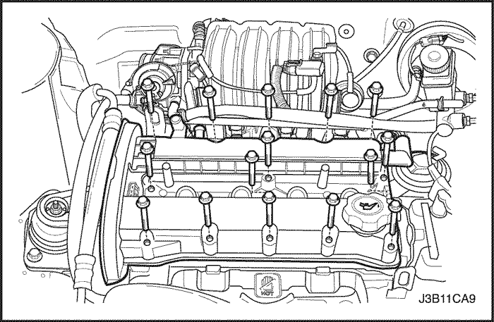 Снимаем клапанную крышку Шевроле Лачетти