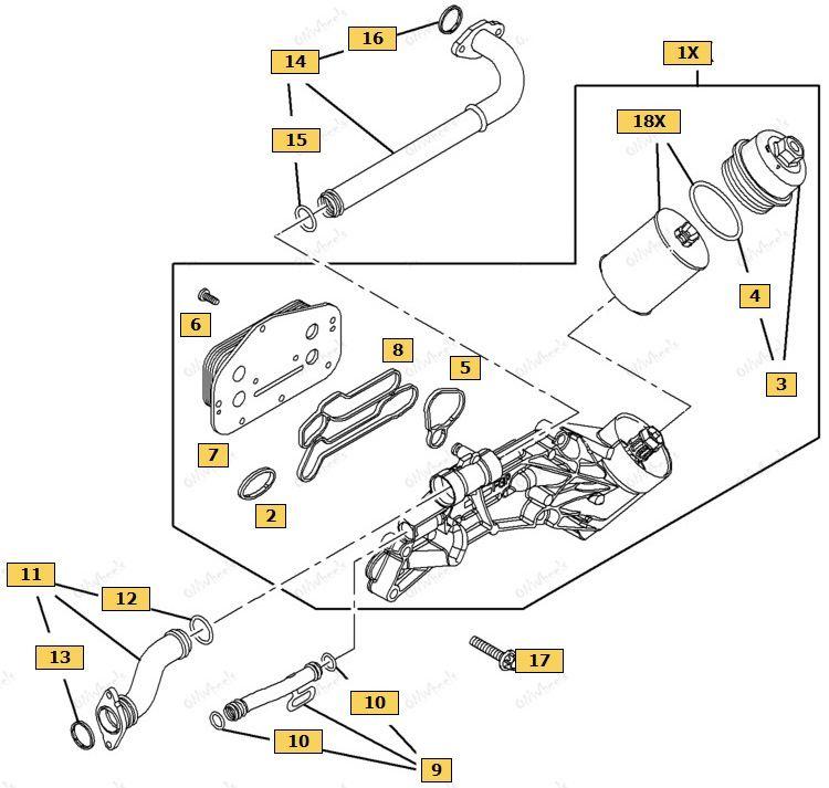 Схема крепления теплообменника Шевроле Круз