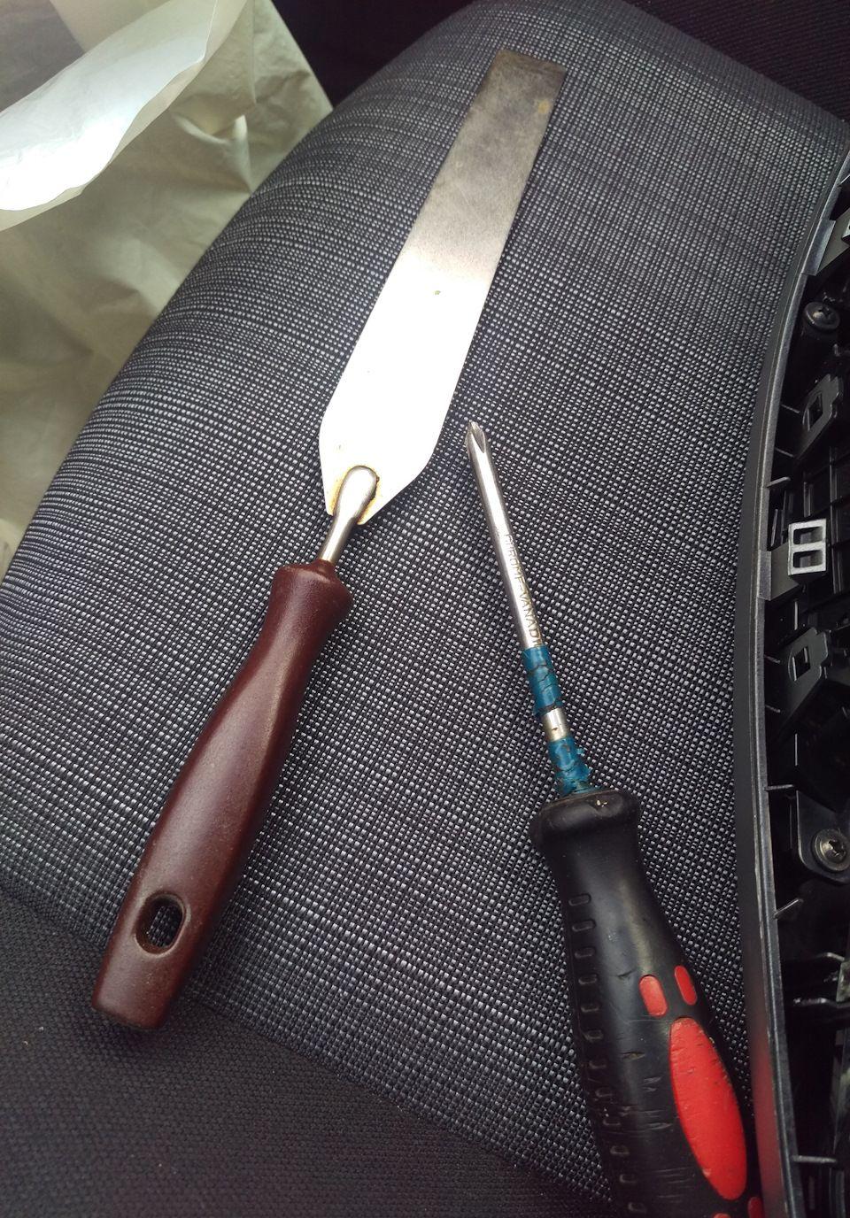 Инструменты для замены магнитолы Kia Ceed