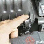 Защёлки корпуса крышки воздушного фильтра Киа Сид