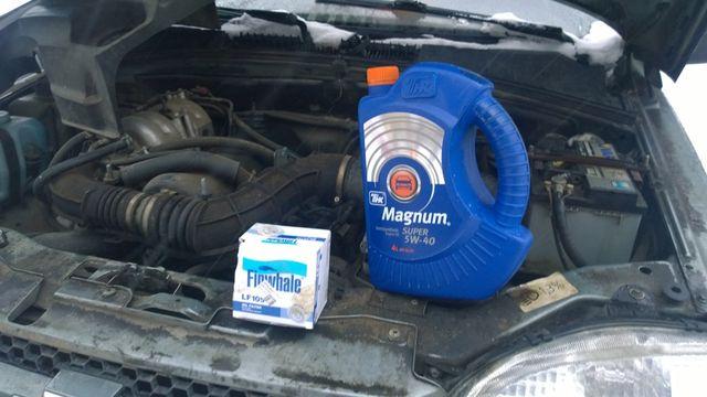 Моторое масло и масляный фильтр
